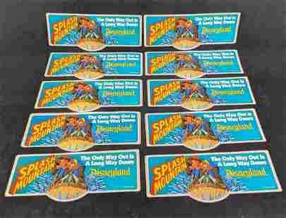 Vintage Disneyland Splash Mountain Bumper Stickers