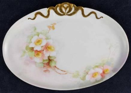 Limoges France Fine China Oval Serving Platter