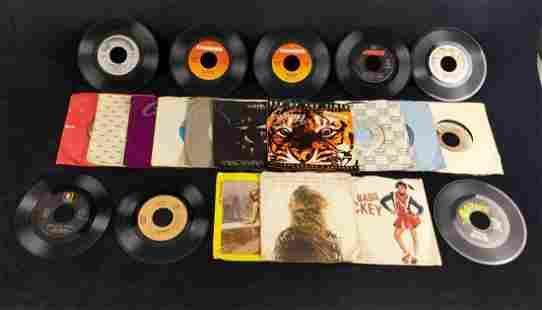 20 Vintage Vinyl 45s Michael Jackson Rocky Elton John