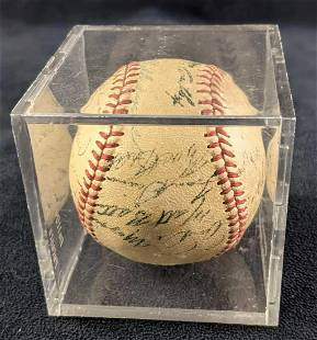 Autographed 1949 Boston Red Sox Ball Ted Williams