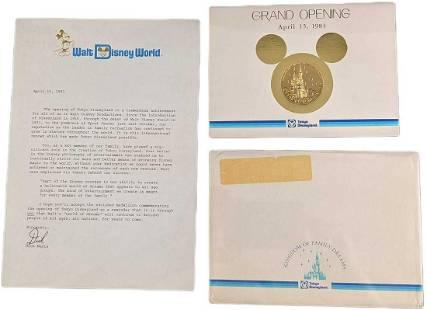 1983 Tokyo Disneyland Grand Opening Commemorative Medal