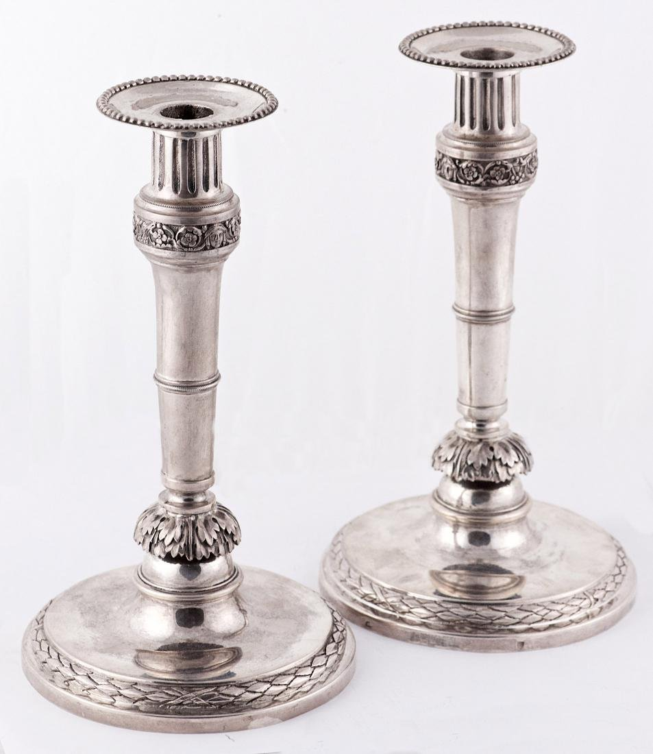 Unknown Pair of .812 silver candlestick Austria (1791)