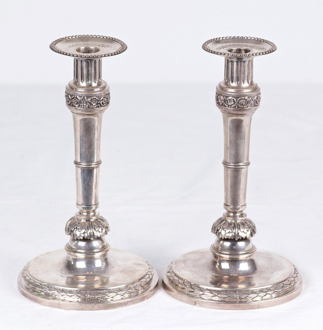 Unknown Pair of .812 silver candlestick Austria (1791) - 4
