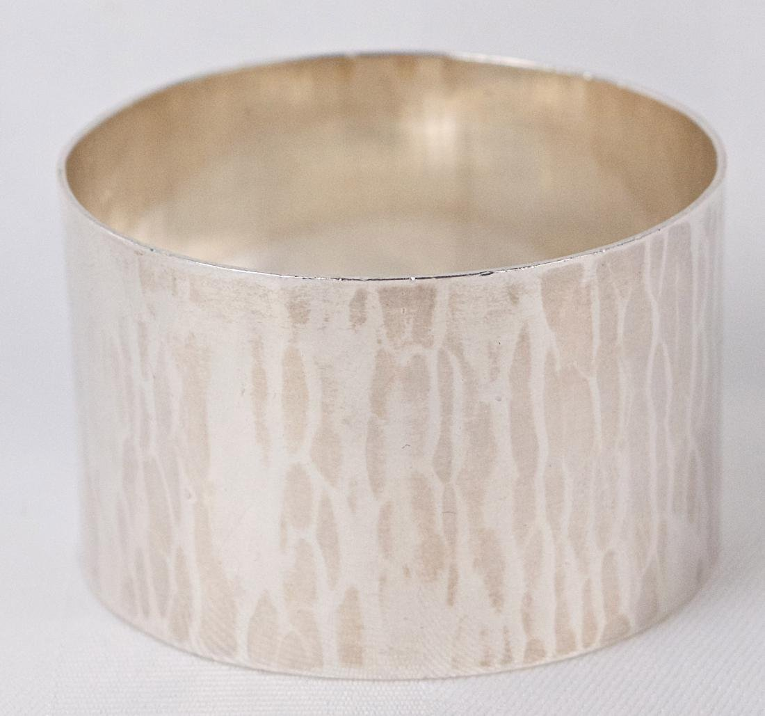Carl Poul Petersen Sterling silver napkin ring, Canada, - 4