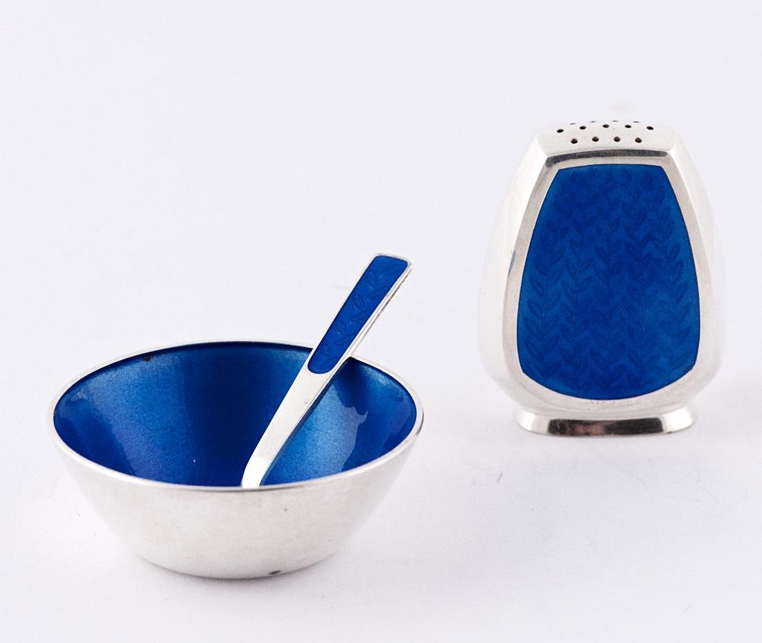 Anton Michelsen, Blue enamel sterling silver small