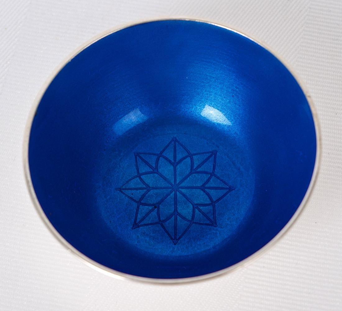 Anton Michelsen, Blue enamel sterling silver small - 3