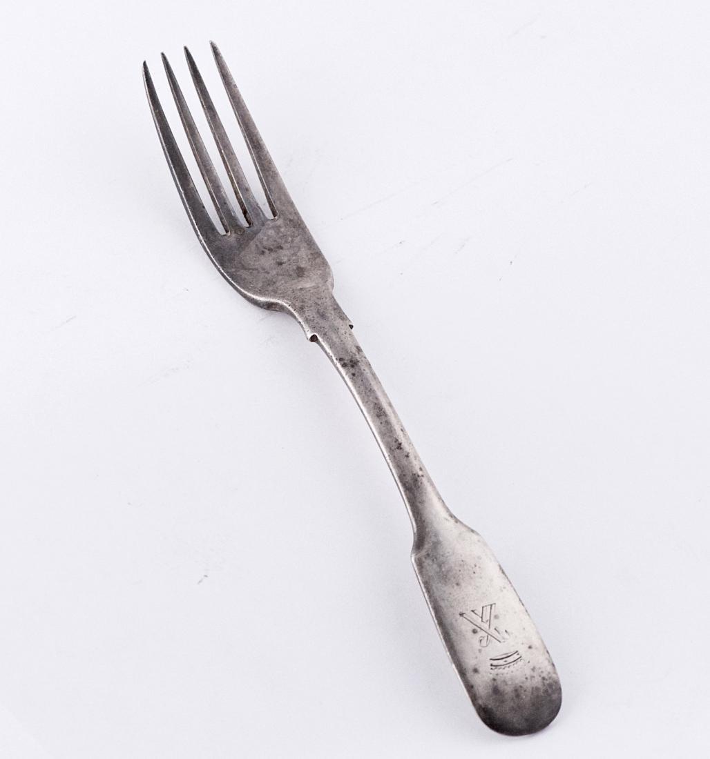 Adam Yuden .875 silver fork, Russia, Saint Petersburg