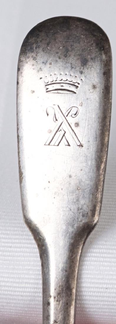 Adam Yuden .875 silver fork, Russia, Saint Petersburg - 2