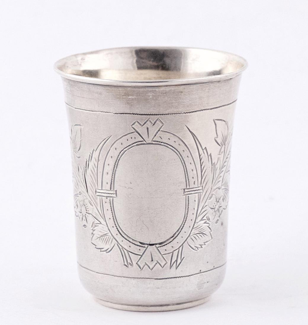 P.A .875 silver kiddush cup, Russia, Moscow (1896)