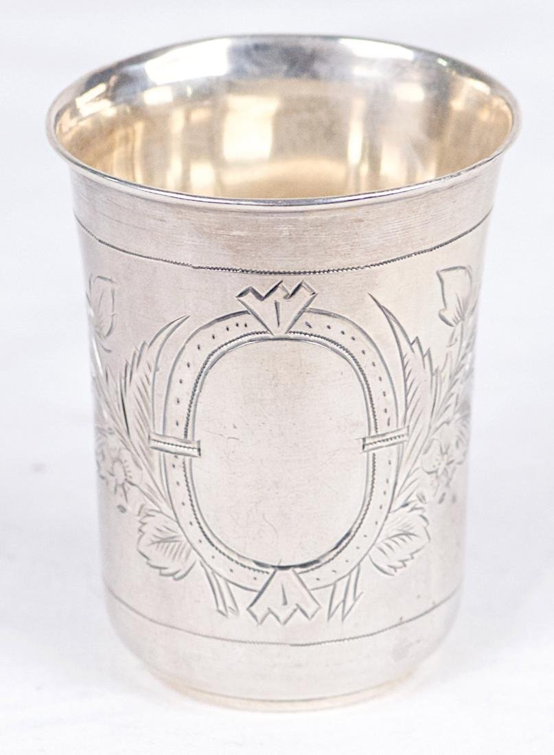 P.A .875 silver kiddush cup, Russia, Moscow (1896) - 4