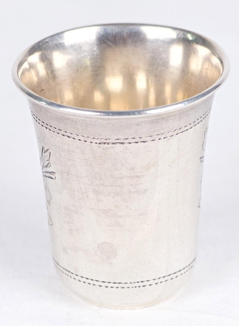 X.N .875 silver kiddush cup, Russia, Moscow (1896) - 2