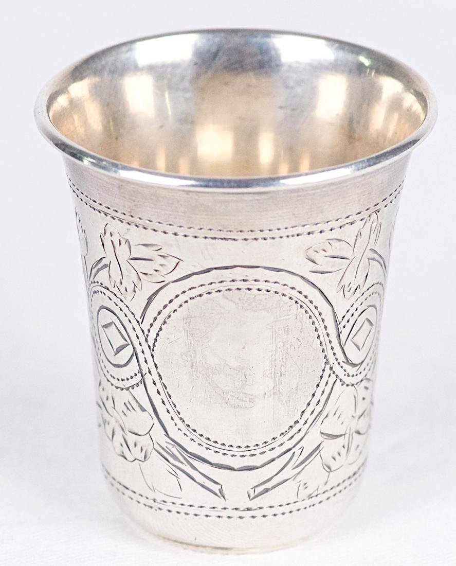 X.N .875 silver kiddush cup, Russia, Moscow (1896) - 4