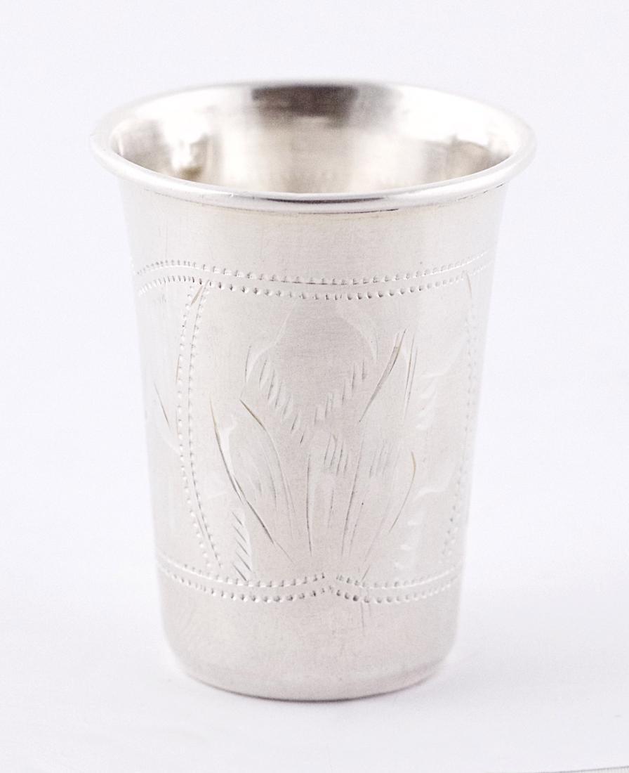 Israel Eseevich Zakhoder Small .875 silver Kiddush cup,