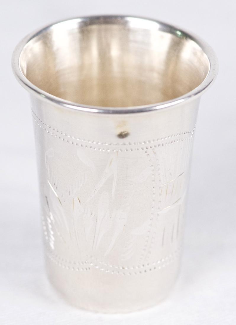 Israel Eseevich Zakhoder Small .875 silver Kiddush cup, - 2