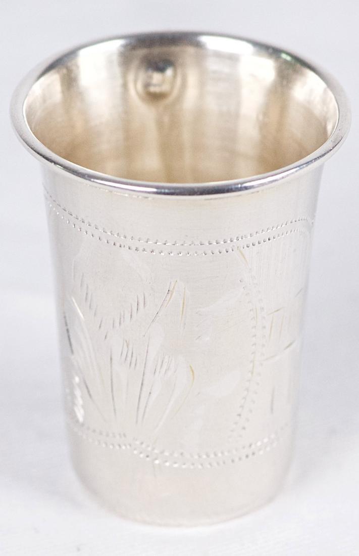 Israel Eseevich Zakhoder Small .875 silver Kiddush cup, - 4