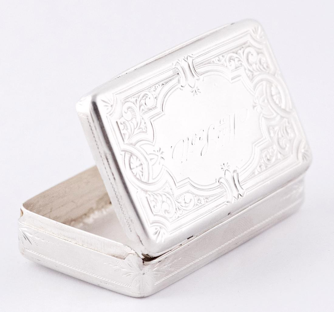 Albert Coles Sterling silver snuffbox, United-States,