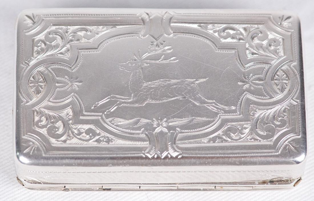Albert Coles Sterling silver snuffbox, United-States, - 2