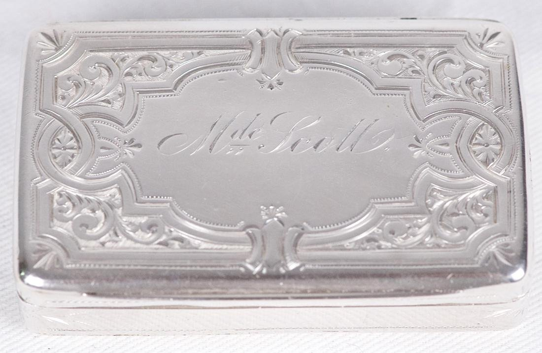 Albert Coles Sterling silver snuffbox, United-States, - 4