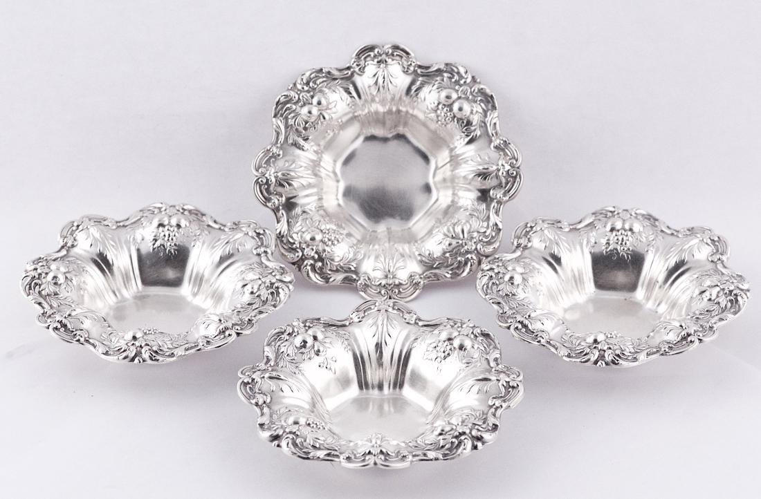 Reed & Barton, Set of four sterling silver small