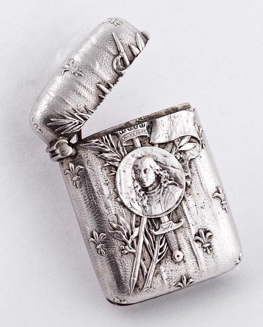 Charles Murat , .950 silver Joan of Arc vesta case,