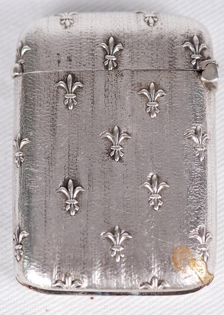 Charles Murat , .950 silver Joan of Arc vesta case, - 2
