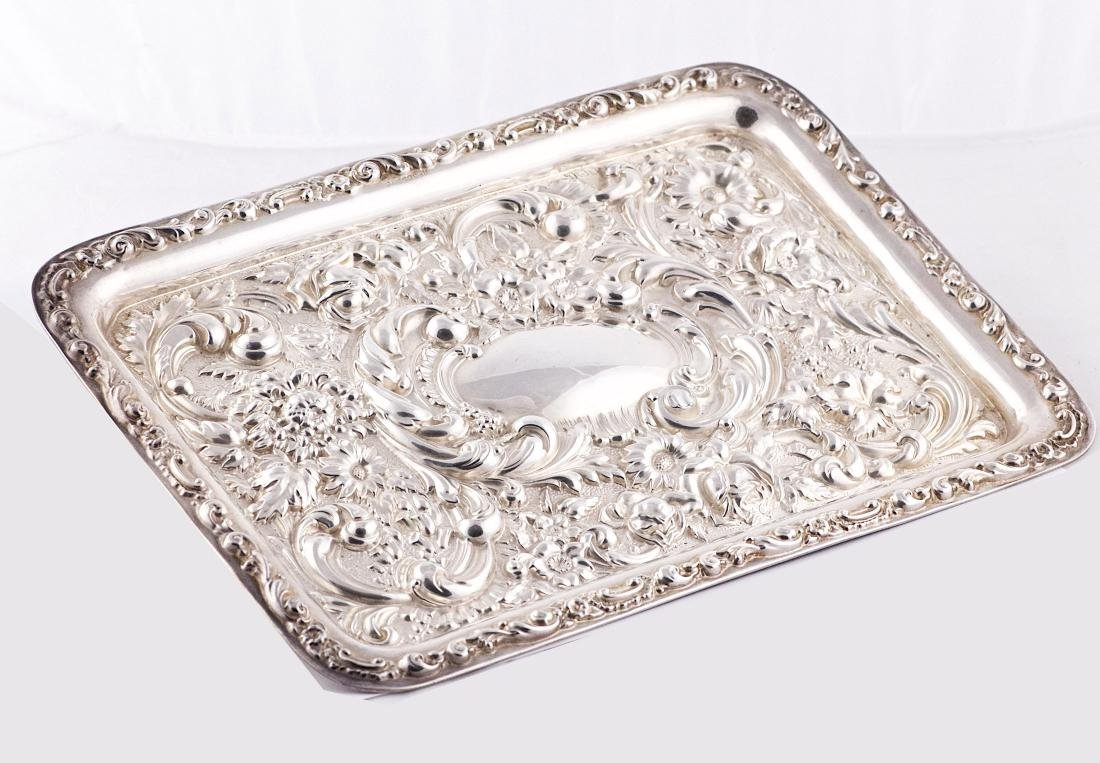 Robert Pringle & Sons, George V, Sterling silver tray,