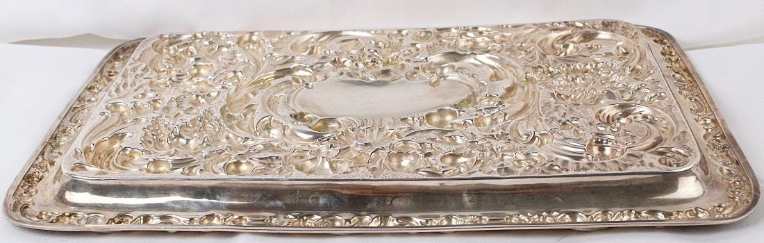Robert Pringle & Sons, George V, Sterling silver tray, - 4