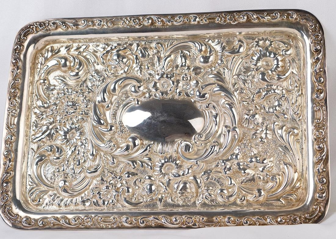 Robert Pringle & Sons, George V, Sterling silver tray, - 5