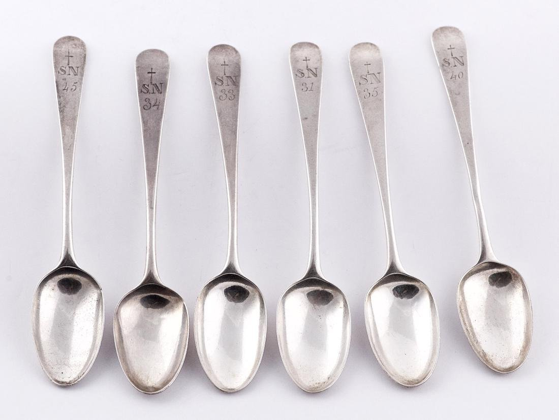 William Sumner, Set of six sterling silver spoons,