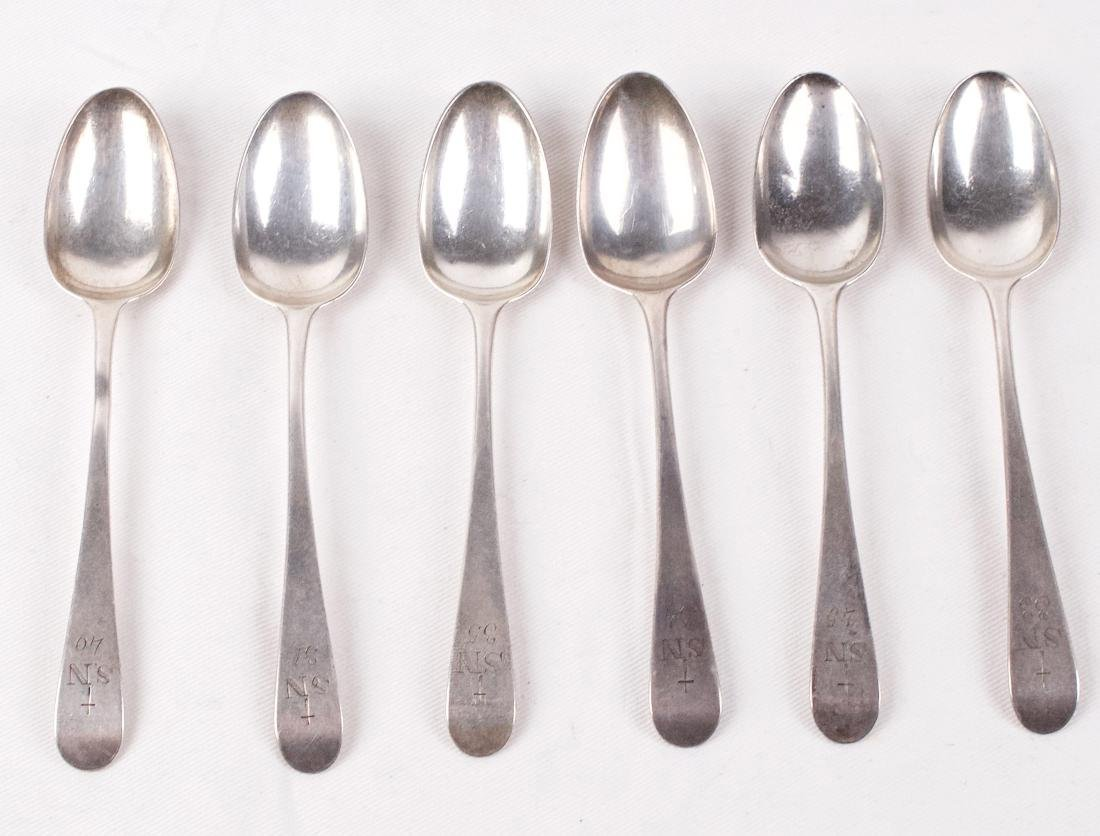 William Sumner, Set of six sterling silver spoons, - 4