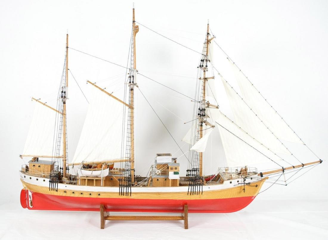 Arctic sailing ship model (Europe)