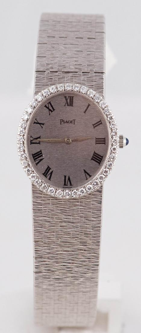 Piaget 18K White Gold & Diamond Ladies Dress Watch