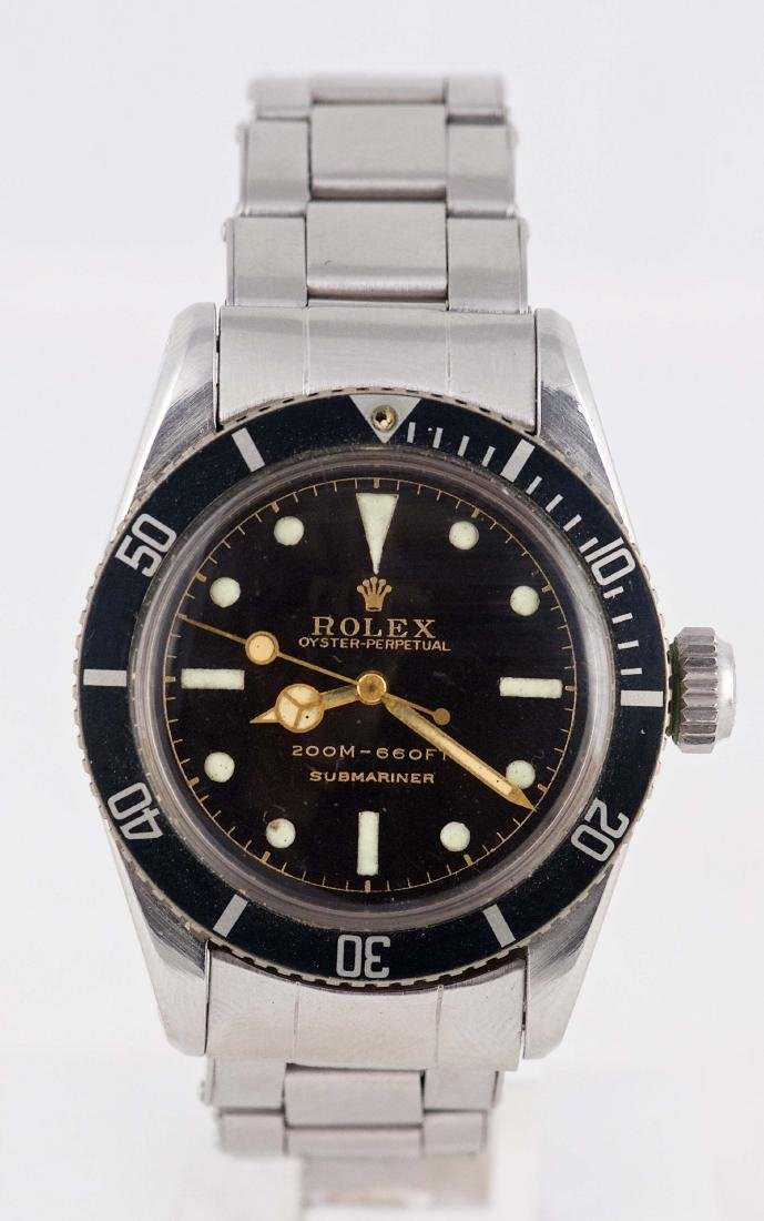 Bond Big Crown Rolex Submariner Ref 6538 With Gilt Dial