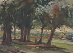 Verona, Paul (1897-1961) (Roumanie/Romania) Paysage