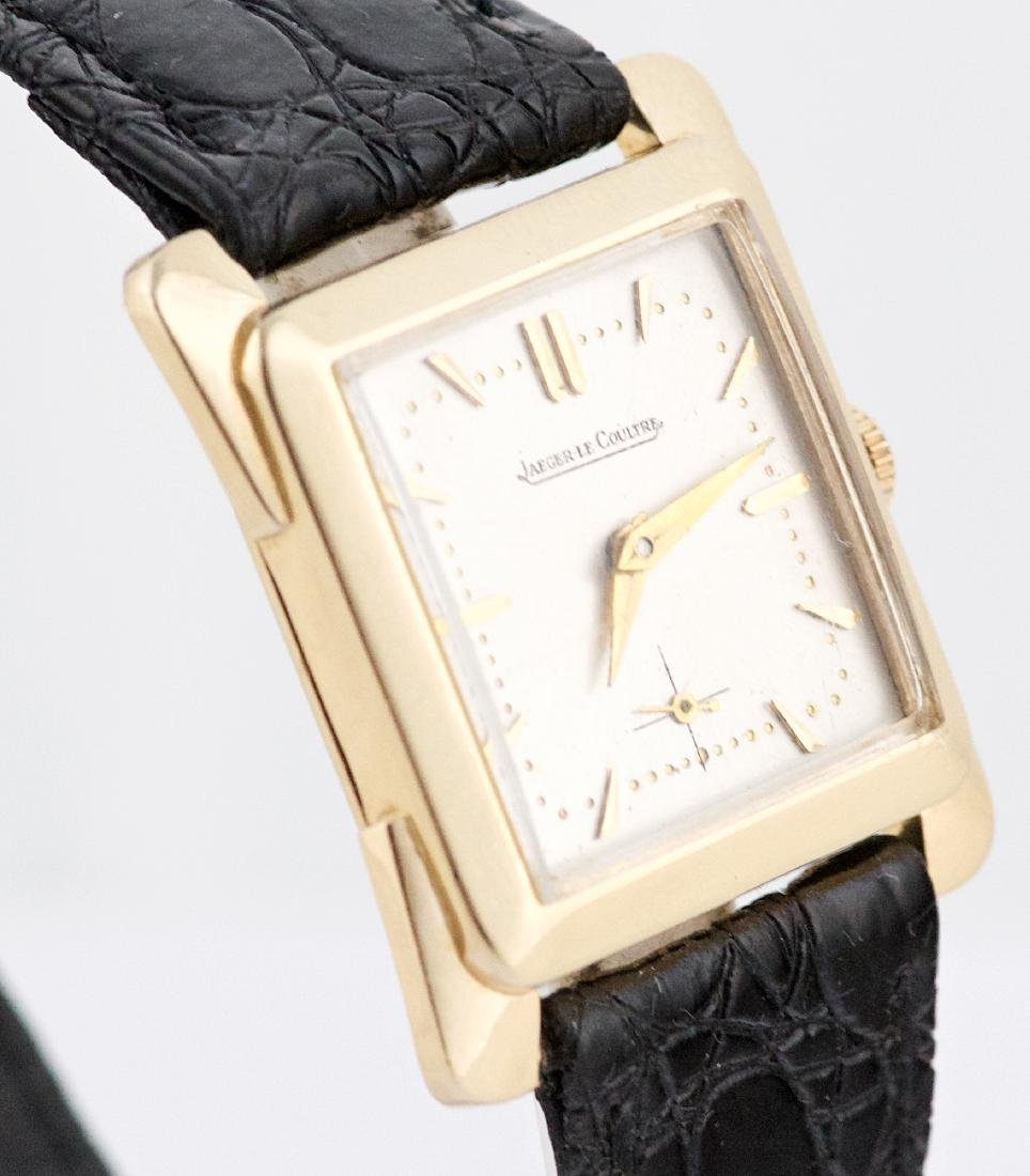 Vintage 14k Gold Jaeger LeCoultre Square Watch - 3