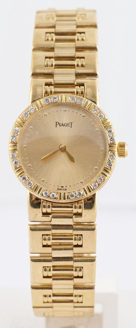 Ladies Piaget Dancer 18K Gold & Diamond Bezel  Watch