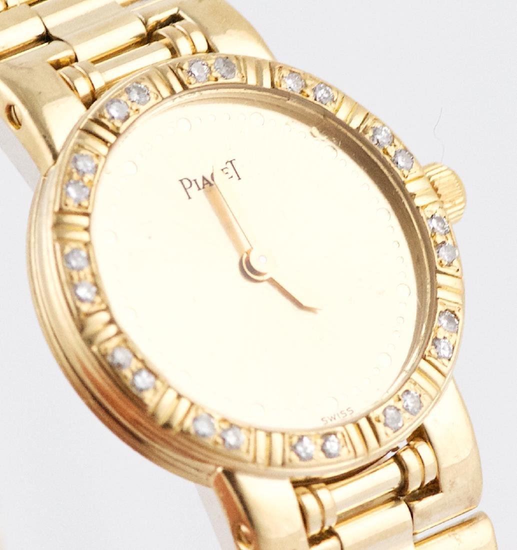 Ladies Piaget Dancer 18K Gold & Diamond Bezel  Watch - 2
