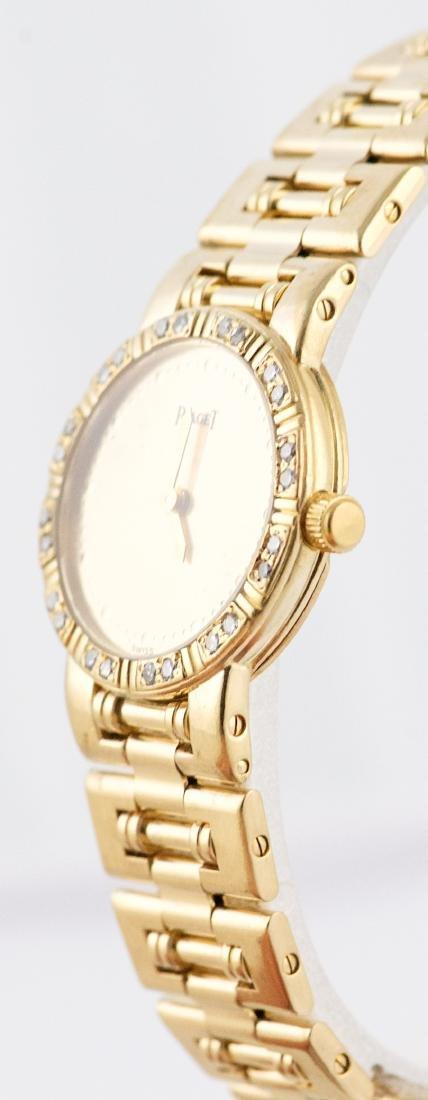 Ladies Piaget Dancer 18K Gold & Diamond Bezel  Watch - 3