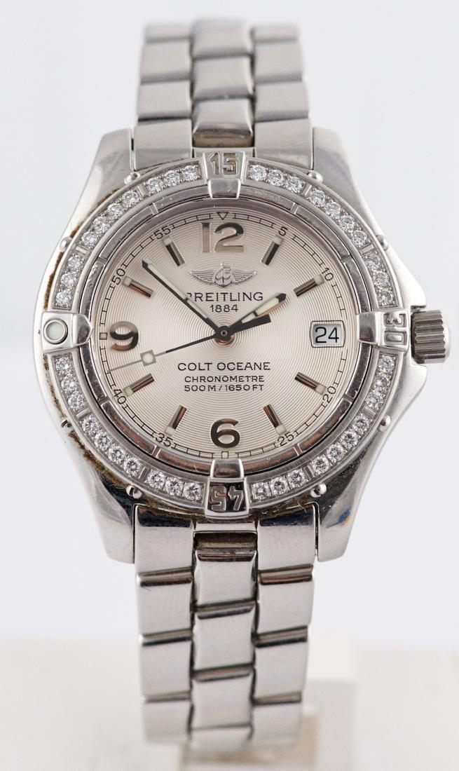 Breitling Colt Oceane with Diamond Bezel Lady Watch