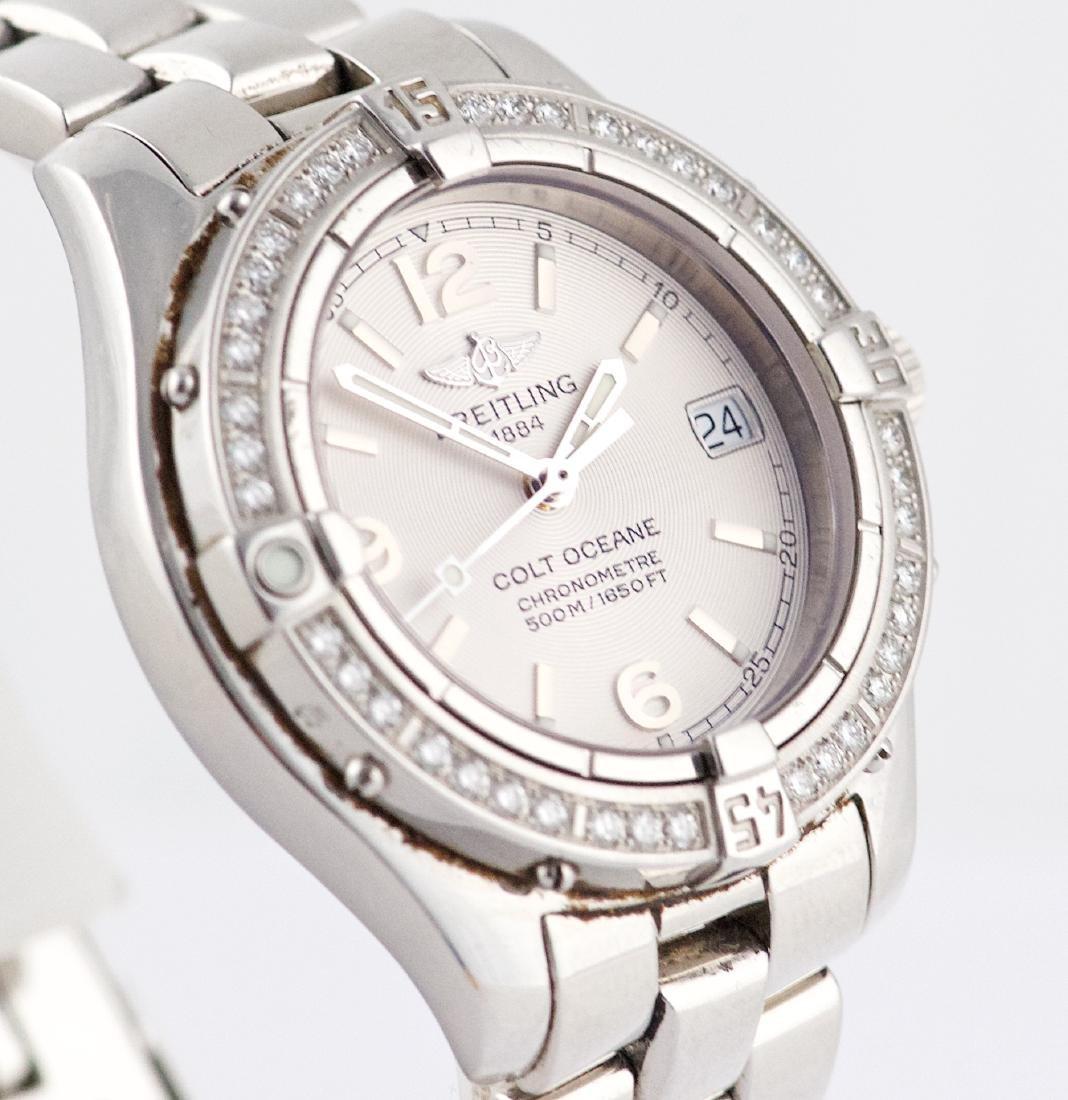 Breitling Colt Oceane with Diamond Bezel Lady Watch - 3
