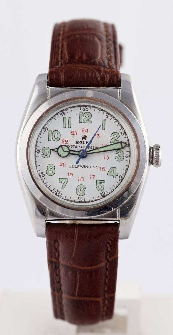 Vintage Rolex Bubbleback 24 Hour Military Dial Ref 2940