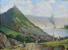 Zeltner, Philipp - Paysage et bateau à vapeur