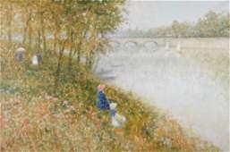 Gisson, André - Promenade au bord de l\'eau