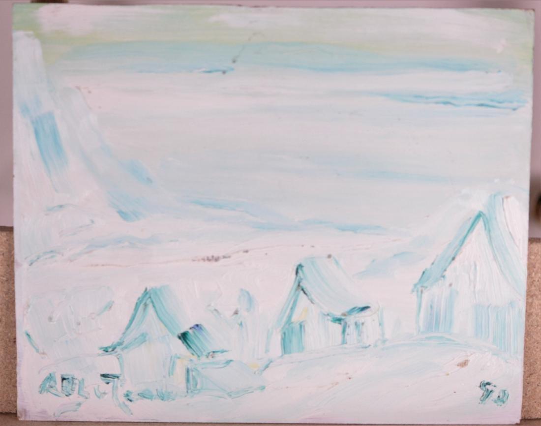 Bluteau, Alban (1923-2015) - Paysage hivernal (1992)