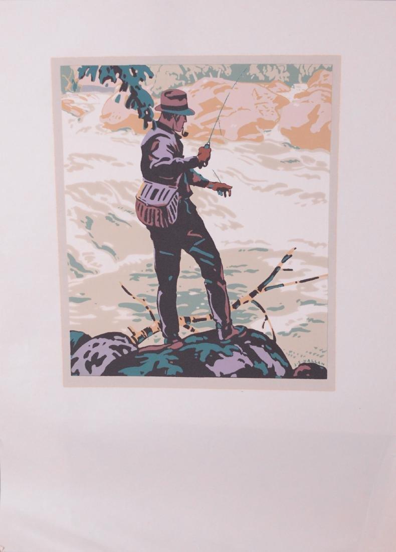 Hallam, Joseph Sydney (1898-1953) - Fly Fishing