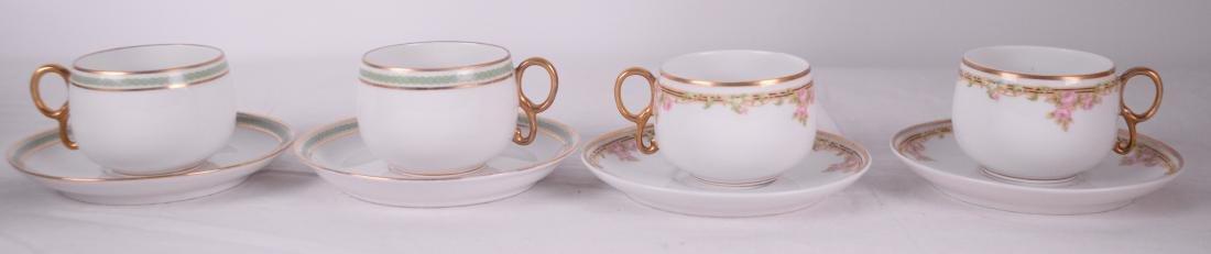 Limoges (France) - Ensemble de tasses en porcelaine