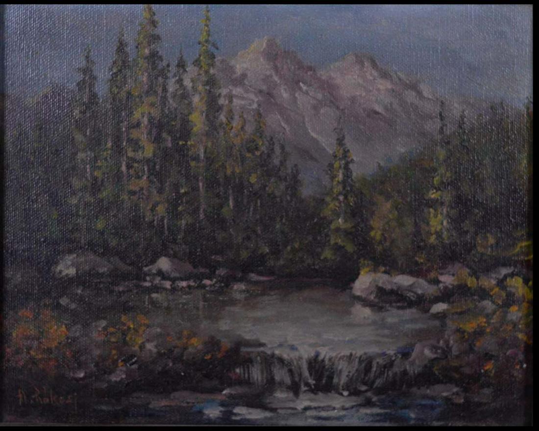 Rakosi, A. - Paysage de montagnes -