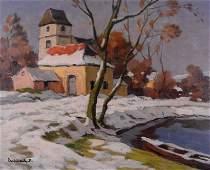 Eschbach, Paul André Jean - Scène d'hiver -