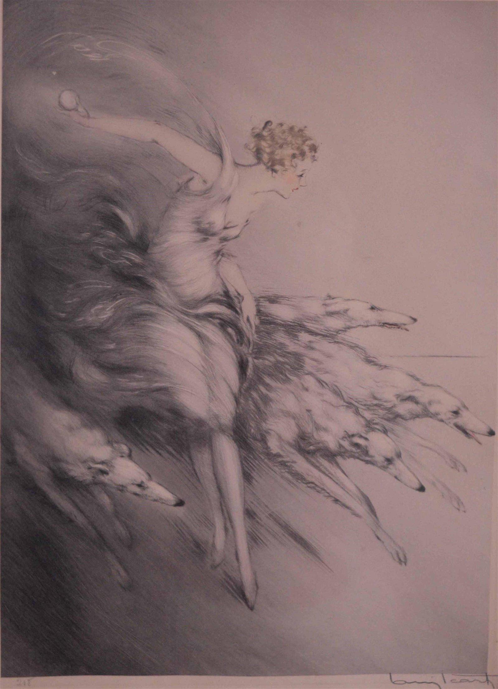 Icart, Louis Justin Laurent - Zest - 1928