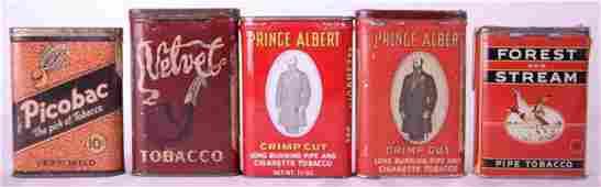 - Lot de 5 boîtes de tabac antiques en métal -